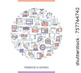 feedbacks and ratings concept.