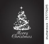 christmas tree concept card or...   Shutterstock .eps vector #757770295
