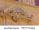 detail of a church architecture | Shutterstock . vector #757771462