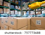 smart logistic industry 4.0  ... | Shutterstock . vector #757773688