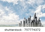 image of high and huge stone... | Shutterstock . vector #757774372