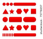 blank red web 2.0 internet... | Shutterstock .eps vector #75778357
