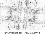 grunge black and white seamless ... | Shutterstock . vector #757783945