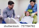 teeth checkup at dentist's...   Shutterstock . vector #757784782