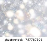 christmas background with...   Shutterstock . vector #757787506