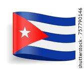 cuba flag vector icon  ... | Shutterstock .eps vector #757790146