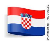 croatia flag vector icon  ... | Shutterstock .eps vector #757790182