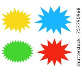 Starburst Speech Bubbles Set ...