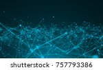 abstract connection dots.... | Shutterstock . vector #757793386