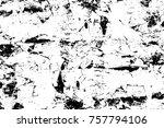 grunge black and white seamless ... | Shutterstock . vector #757794106