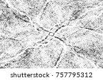 grunge black and white seamless ... | Shutterstock . vector #757795312