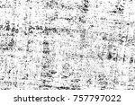grunge black and white seamless ... | Shutterstock . vector #757797022