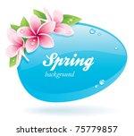 spring background of glossy... | Shutterstock .eps vector #75779857