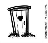 etched vector illustration.... | Shutterstock .eps vector #757800796