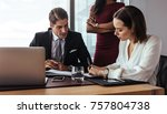 business people working in team ... | Shutterstock . vector #757804738