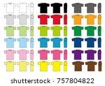 tshirts illustration set. color ... | Shutterstock .eps vector #757804822