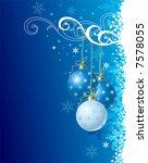 blue christmas background / vector illustration - stock vector