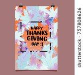 happy thanksgiving vector... | Shutterstock .eps vector #757808626