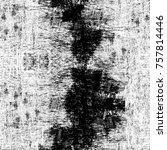 grunge black and white seamless ... | Shutterstock . vector #757814446