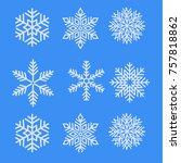blue winter snowflake | Shutterstock .eps vector #757818862