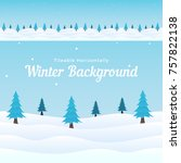 tileable horizontal winter... | Shutterstock .eps vector #757822138
