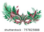 beautiful festive christmas... | Shutterstock . vector #757825888