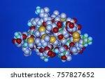 protein molecules as a computer ... | Shutterstock . vector #757827652