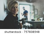 portrait of smiling young... | Shutterstock . vector #757838548