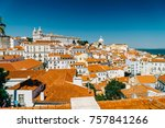 panoramic view of downtown... | Shutterstock . vector #757841266