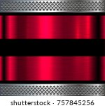 metal background  red and pink... | Shutterstock .eps vector #757845256