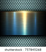 background metal texture blue... | Shutterstock .eps vector #757845268