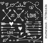 hand drawn love set  vector | Shutterstock .eps vector #757861636