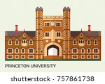 princeton university. vector... | Shutterstock .eps vector #757861738