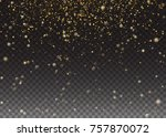 glitter particles effect. gold... | Shutterstock .eps vector #757870072