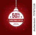 christmas offer template design ... | Shutterstock .eps vector #757871218