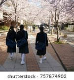 junior high school new pupil | Shutterstock . vector #757874902