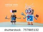 web site under construction... | Shutterstock . vector #757885132