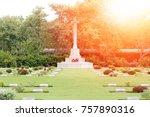 world war cemetery for ... | Shutterstock . vector #757890316