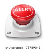 red alert button | Shutterstock . vector #75789043