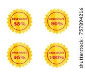 discount label set  icon design | Shutterstock .eps vector #757894216