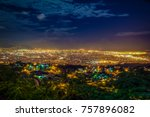 Night view of Kingston, Jamaica.