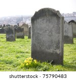 An Old Gravestone In The...