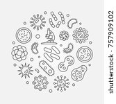 microbes round outline... | Shutterstock .eps vector #757909102