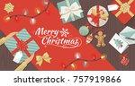 preparing for christmas  man...   Shutterstock .eps vector #757919866