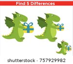 game for children find five... | Shutterstock .eps vector #757929982