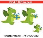 game for children find five... | Shutterstock .eps vector #757929982
