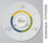 abstract 3 steps modern pie... | Shutterstock .eps vector #757932502