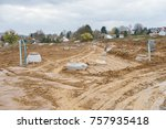 construction site for a new... | Shutterstock . vector #757935418
