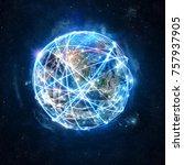 concept of global internet...   Shutterstock . vector #757937905