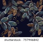 merry christmas classical... | Shutterstock .eps vector #757946842